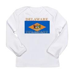 Delaware State Flag Long Sleeve Infant T-Shirt