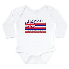 Hawaii Hawaiian State Flag Long Sleeve Infant Body