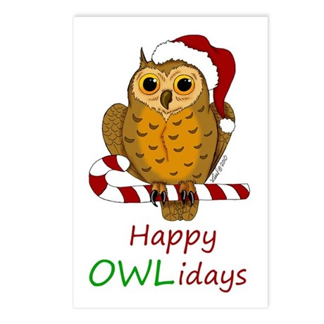 OWLiday Postcards (Package of 8)