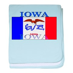 Iowa State Flag baby blanket