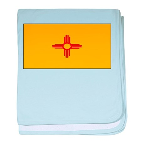 New Mexico Blank Flag baby blanket