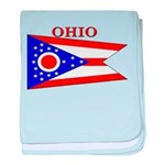 Ohio State Flag baby blanket