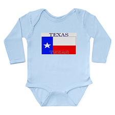 Texas Texan State Flag Long Sleeve Infant Bodysuit