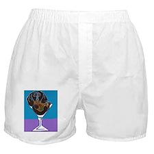 Black Dachshund Martini Boxer Shorts