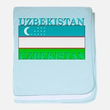 Uzbekistan Uzbek Flag baby blanket