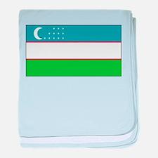 Uzbekistan Blank Flag baby blanket