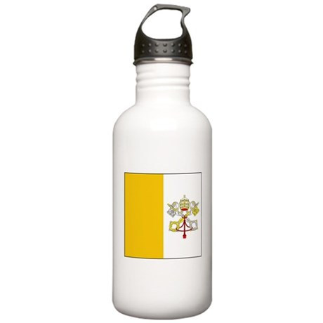 Vatican City Blank Flag Stainless Water Bottle 1.0