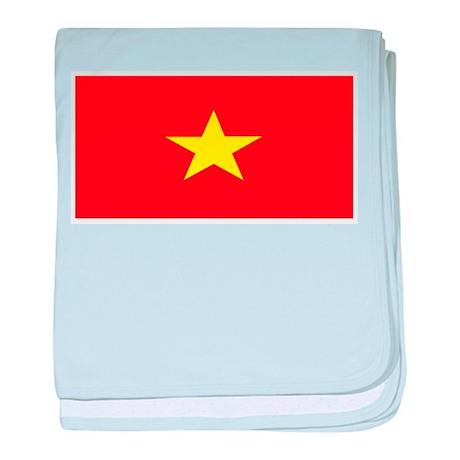 Vietnam Vietnamese Blank Flag baby blanket