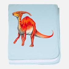 Parasaurolophus Jurassic Dino baby blanket