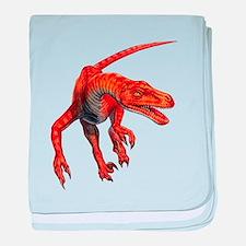 Velociraptor Raptor Dinosaur baby blanket