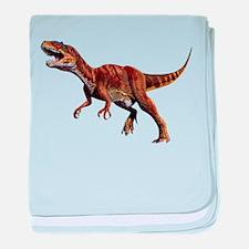 Allosaurus Jurassic Dinosaur baby blanket