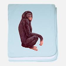 Bonobo Pygmy Chimpanzee baby blanket