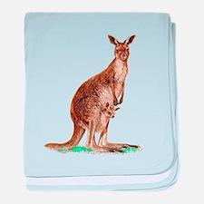 Western Gray Kangaroo baby blanket