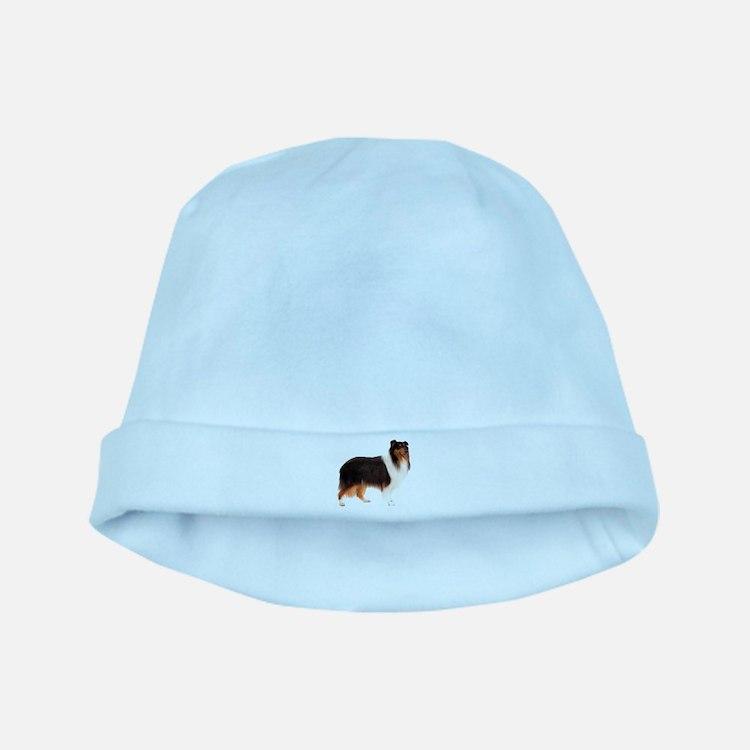 Black Rough Collie baby hat