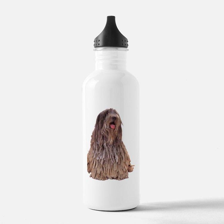Bergamasco Sheepdog Sitting Water Bottle