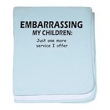 Embarrassing My Children baby blanket