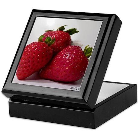 Strawberry Trio Keepsake Box