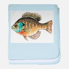 Bluegill Bream Fishing baby blanket