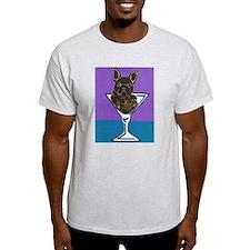Black French Bulldog Ash Grey T-Shirt