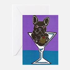 Black French Bulldog Greeting Cards (Pk of 10)