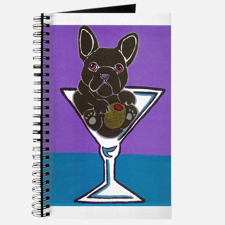 Black French Bulldog Journal