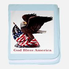 God Bless America Eagle baby blanket