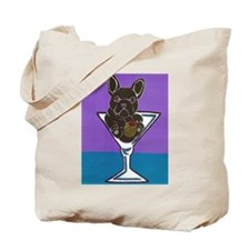 Black French Bulldog Tote Bag
