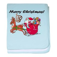 Merry Christmas Santa baby blanket