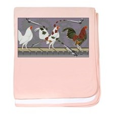 Poultry Painter baby blanket