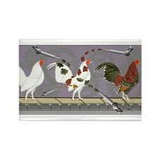 Poultry Painter Rectangle Magnet