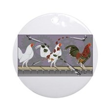 Poultry Painter Ornament (Round)