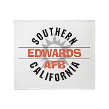 Edwards Air Force Base Throw Blanket