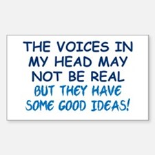 Voices in my Head Sticker (Rectangle)