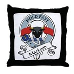 MacLeod Clan Badge Throw Pillow