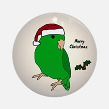 Santa Green Parrotlet Female Ornament