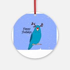 Blue Parrotlet Reindeer Ornament