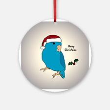 Santa Blue Parrotlet Female Ornament