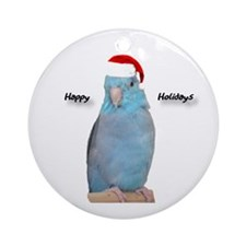 Santa Blue Parrotlet Ornament
