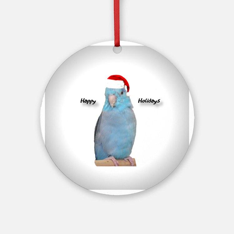 Santa Blue Parrotlet Ornament