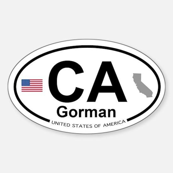 Gorman Sticker (Oval)