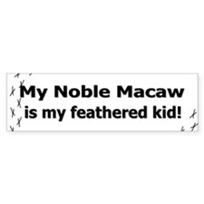 Noble Macaw Feathered Kid Bumper Bumper Sticker