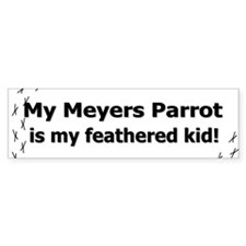 Meyers Parrot Feathered Kid Bumper Bumper Sticker