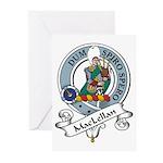 MacLellan Clan Badge Greeting Cards (Pk of 10)