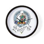 MacLellan Clan Badge Wall Clock