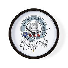 MacLean Clan Badge Wall Clock