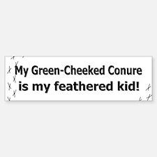 Green-Cheeked Conure Feathered Kid Bumper Bumper Bumper Sticker