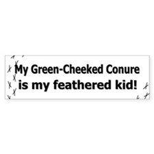 Green-Cheeked Conure Feathered Kid Bumper Bumper Sticker