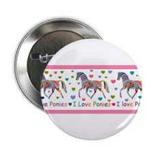 "I love ponies 2.25"" Button"