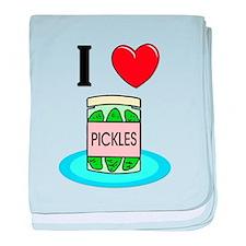 I Love Pickles baby blanket