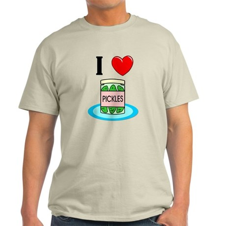 I Love Pickles Light T-Shirt